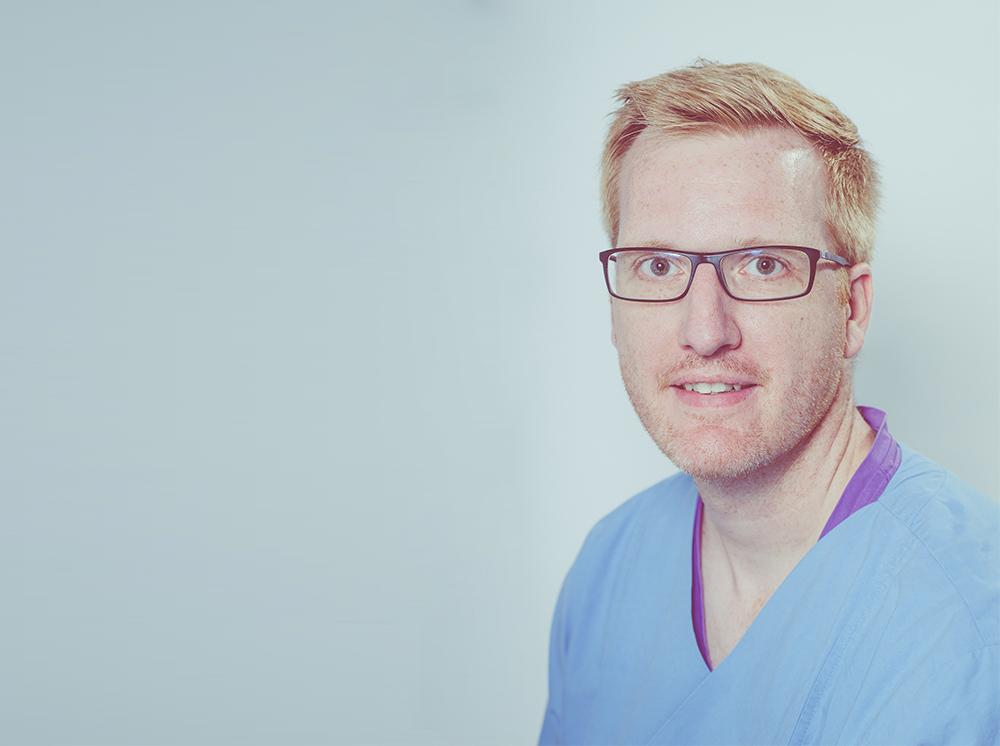 Portrait Assistenzarzt Martin Schumacher